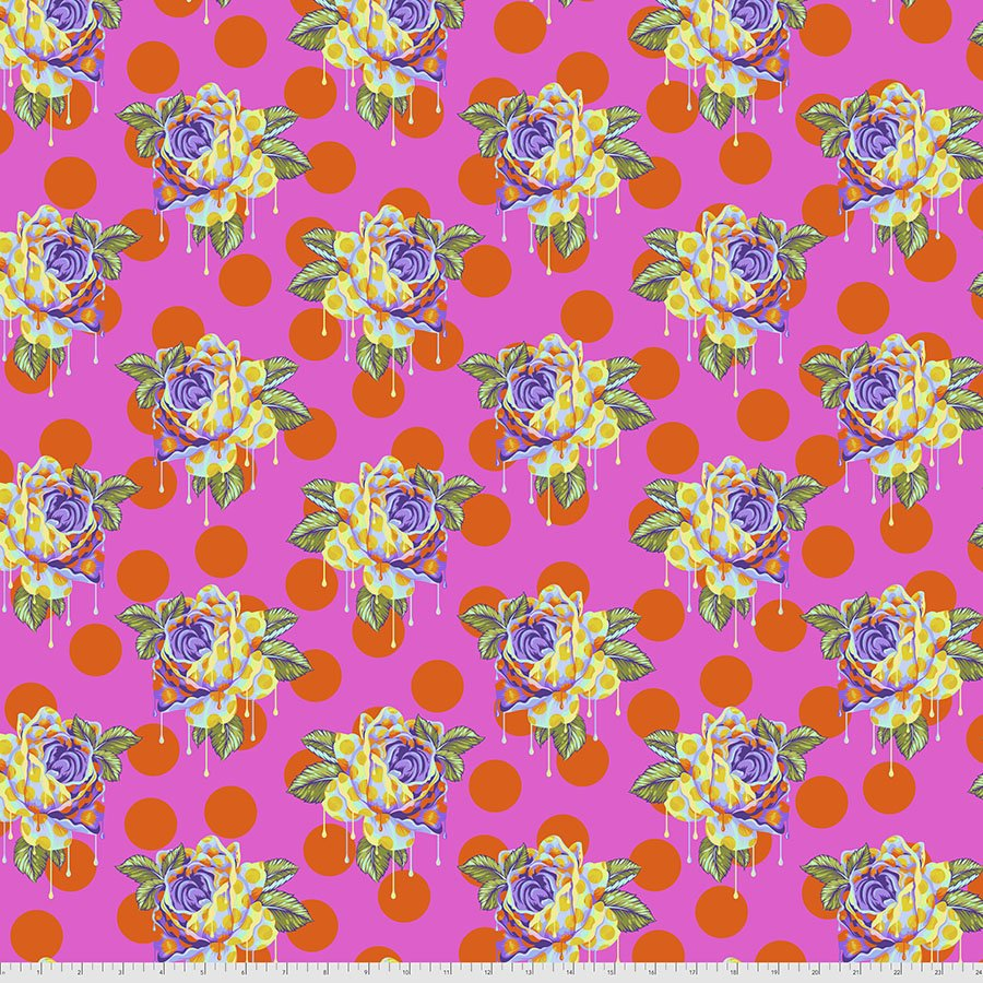 Free Spirit Fabrics - Tula Pink - Curiouser - Painted Roses  *PRE-ORDER
