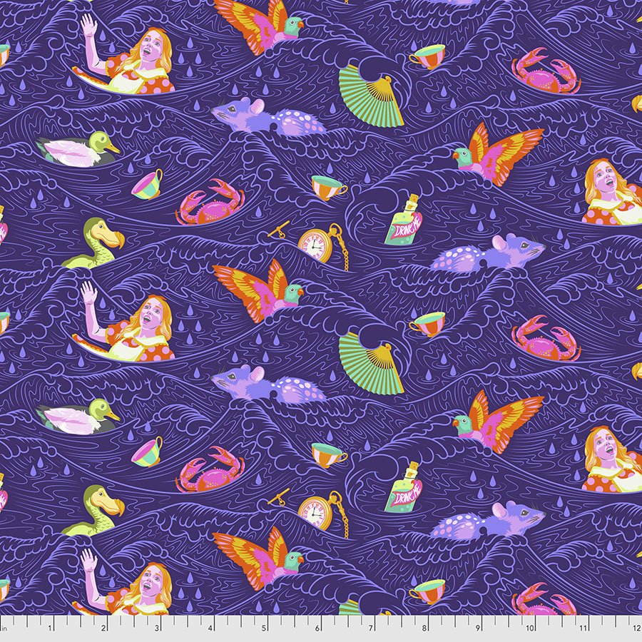 Free Spirit Fabrics - Tula Pink - Curiouser - Sea of Tears  *PRE-ORDER