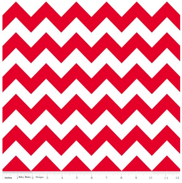 Riley Blake Designs- Chevron- Red