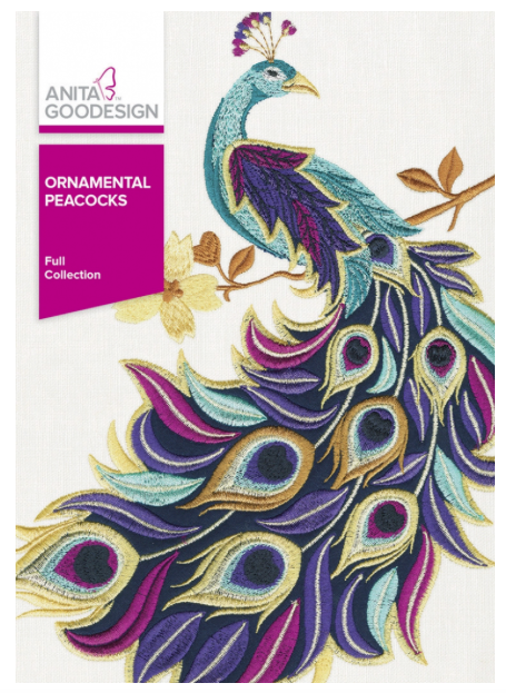 Anita Goodesign- Ornamental Peacocks
