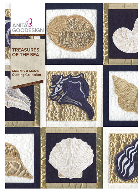 Anita Goodesign-  Mini Mix & Match Quilting Collection-Treasures of the sea