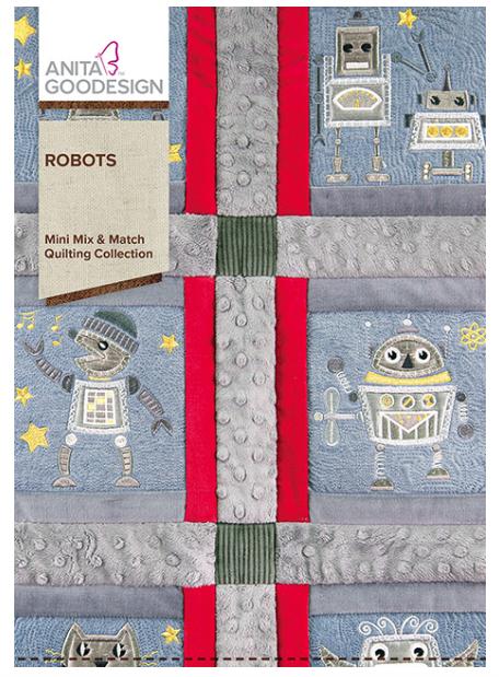 Anita Goodesign- Mini Mix & Match Quilting Collection- Robots