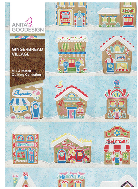 Anita Goodesign- Mix & Match Quilting Collection- Gingerbread Village