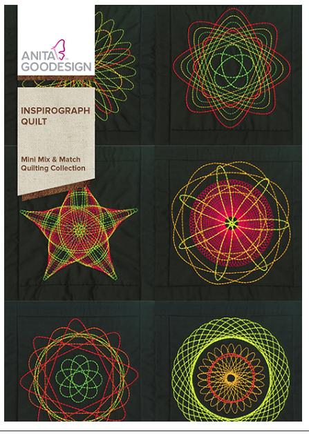 Anita Goodesign- Mini Mix & Match Quilting Collection- Inspirograph Quilt