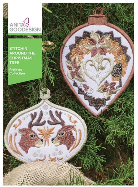 Anita Goodesign- Projects Collection- Stitchin' Around the Christmas Tree