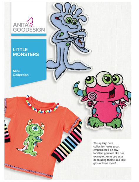 Anita Goodesign- Mini Collection- Little Monsters