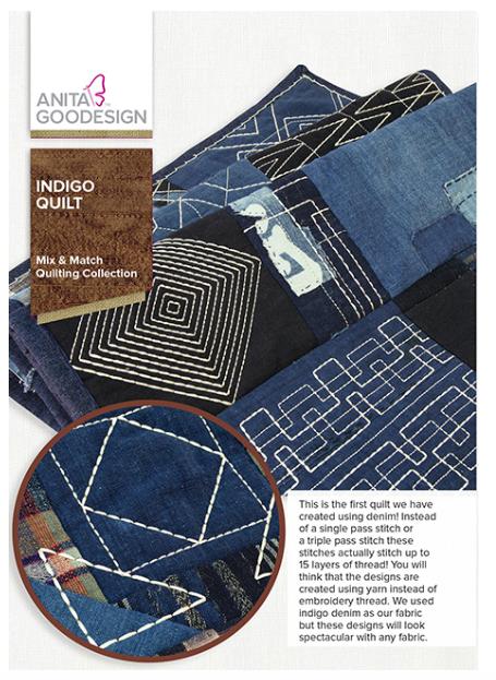 Anita Goodesign- Mix & Match Quilting Collection- Indigo Quilt