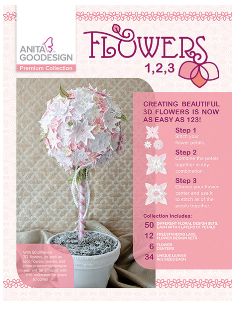 Anita Goodesign- Premium Collection- Flowers 1,2,3