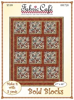 Fabric Cafe - Bold Blocks 3 Yard Quilt Pattern