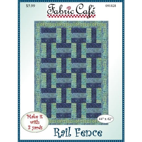 Fabric Cafe - Rail Fence 3 Yard Quilt Pattern