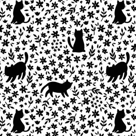 Camelot Fabrics- Anne Sullivan- Meow- Silhouette