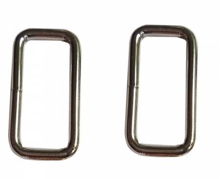 1-1/2in Rectangle Rings Nickel 2ct
