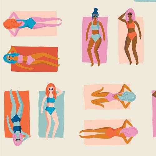 Live Art Gallery Fabrics - AGF Studio - Sunburst - Fun in the Sun Chill