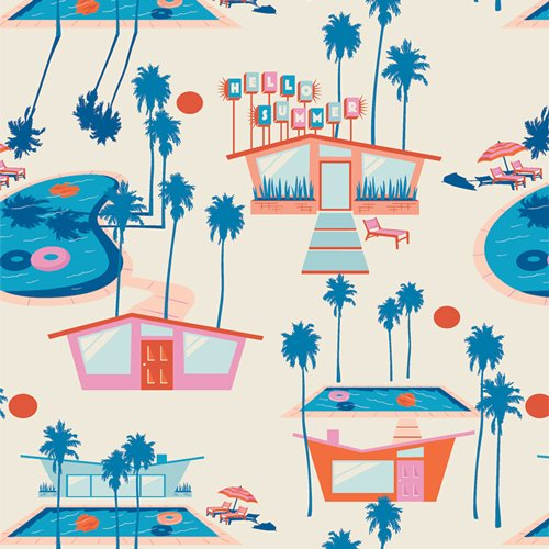 Live Art Gallery Fabrics - AGF Studio - Sunburst - Hello Summer Fresh