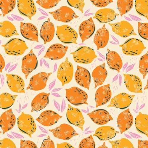 Live Art Gallery Fabrics - AGF Studio - Sunburst - Mango Lemonade