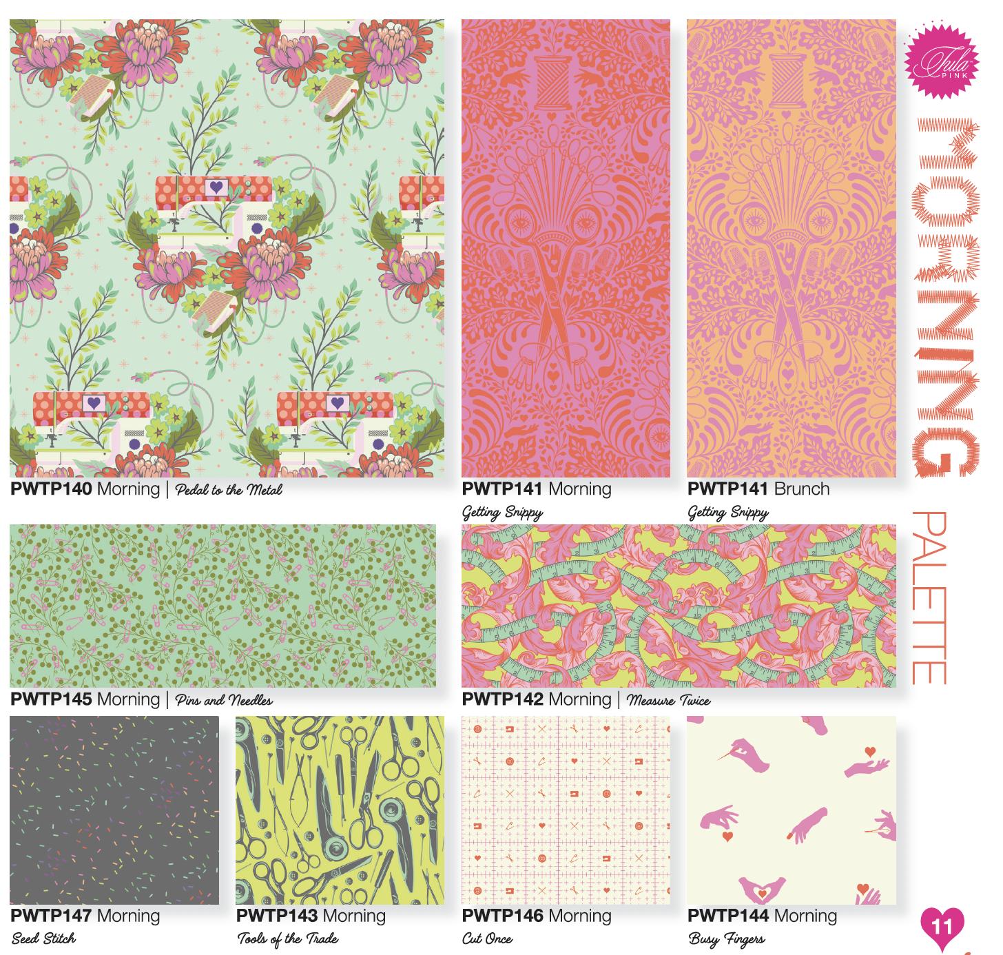Free Spirit Fabrics - Tula Pink - Homemade - Colorway One Yard Bundle