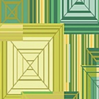 01080-44 Benartex MetroHip to Be Square Verde  *35% Savings*  (One Yard Minimum Cut)