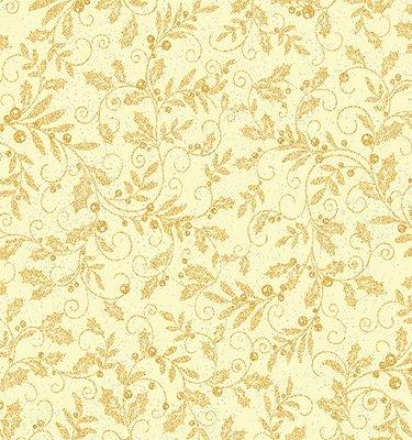 0850M-07 Benartex Mistletoe Cream with Silver Metallic Specks by J.Z.W.    *28% Savings*  (One Yard Minimum Cut)