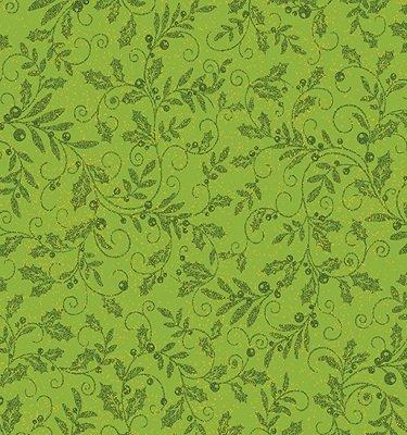 0850M-42 Benartex Mistletoe Pine with Gold Metallic Specks by J.Z.W.   *28% Savings*  (One Yard Minimum Cut)