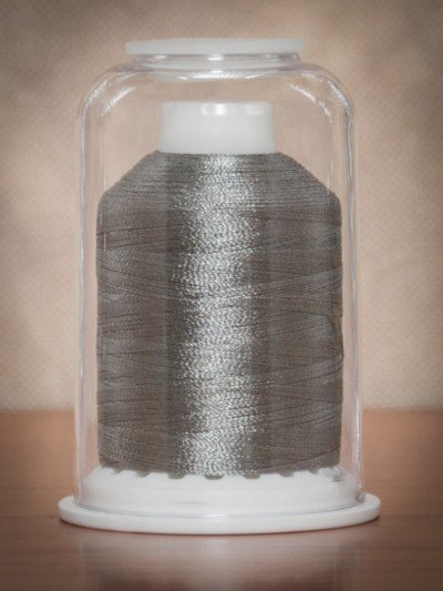 1077  Hemingworth Polyselect Embroidery Thread Antique Silver