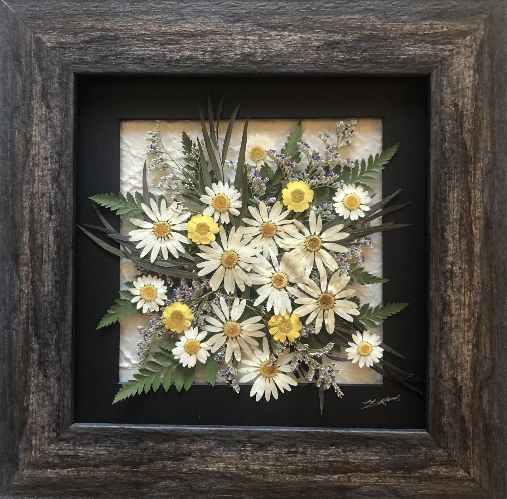 13' x 13 Pressed Flower