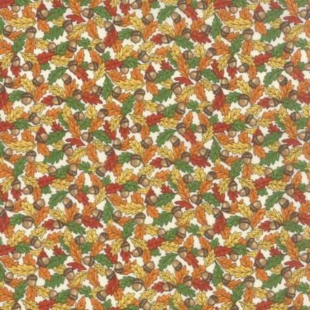 19713-16 Moda Forest Fancy Leaves on Cream