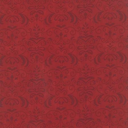 19714-13 Moda  Forest Fancy Red Damask
