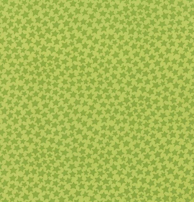 19728-17 Moda Midnight Masquerade Green Stars on Green