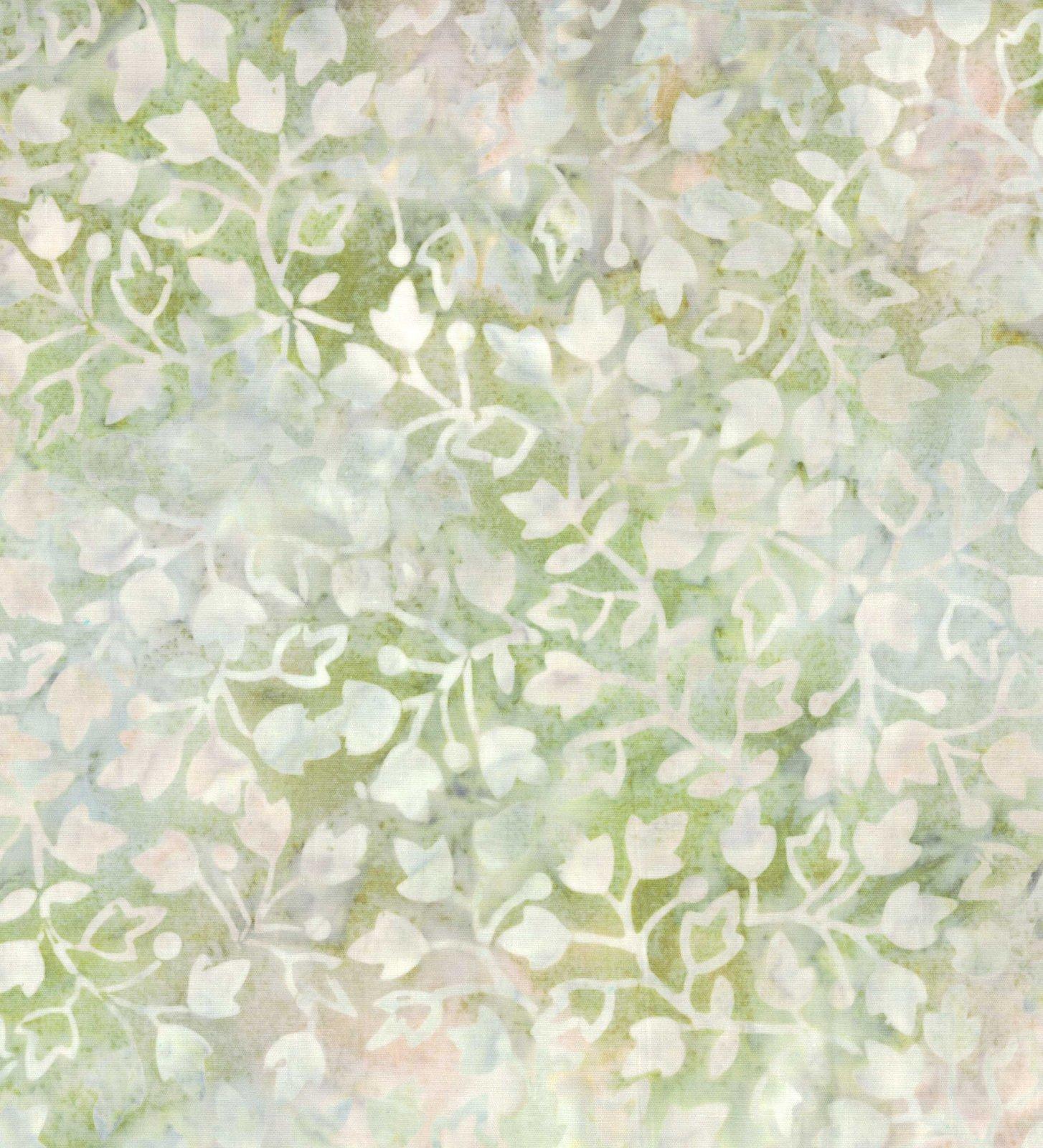 22132-907 Batavian Batiks by Wilmington Prints Ivy Vines Lt Gray/Green  *50% Savings* (ONE YARD MINIMUM CUT)
