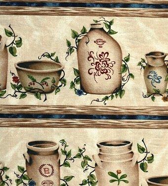 27761 Windham Fabrics Stoneware Jars Stripe   *35% Savings*  (One Yard Minimum Cut)