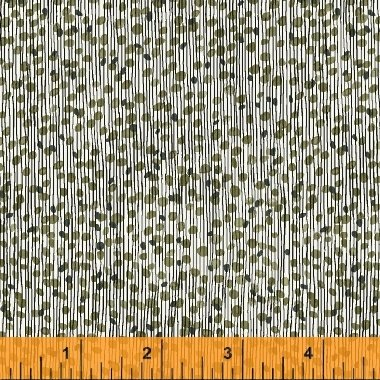40073-2 Flirt by Another Point of View for Windham Fabrics-Textured Stripe-Grey/Green