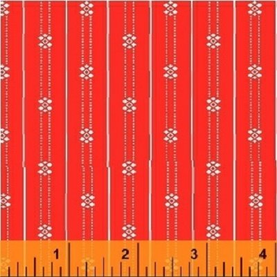 40421-2 Shirt & Tie by Another Point of View for Windham Fabrics-Stripe Orange