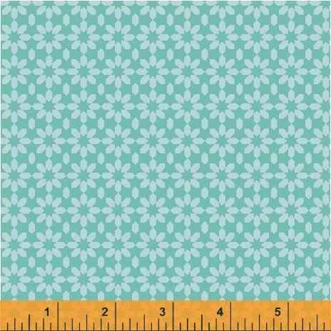 41824-1 Uppercase Ice Floral in Turquoise by Janine Vangool for Windham Fabrics  *20% OFF MSRP*