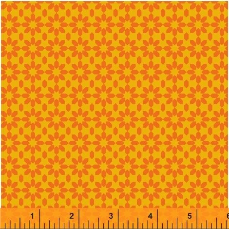 41824-2 Uppercase Ice Floral in Orange by Janine Vangool for Windham Fabrics  *20% OFF MSRP*