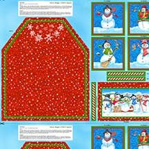 77219-347 South Sea Imports Snow Magic Childs Apron Panel