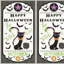 82423-196  Wilmington Every Witch Way Door Panel