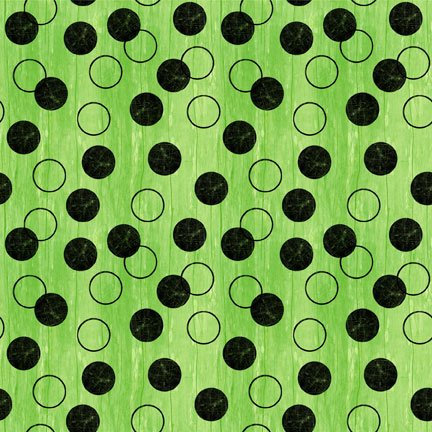 82427-799 Wilmington Every Witch Way Circles and Dots  Lime&Black