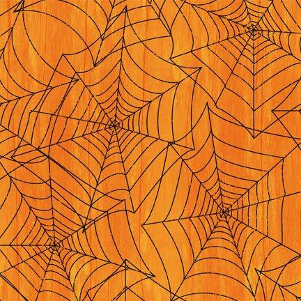 82442-899 Wilmington Every Witch Way Spiderwebs Black&Orange
