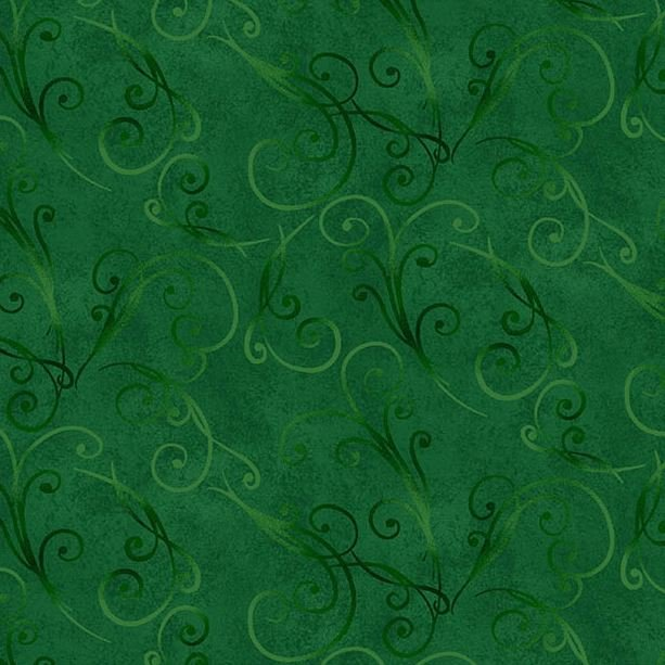 8326-67 Henry Glass Something Blue Green Swirl