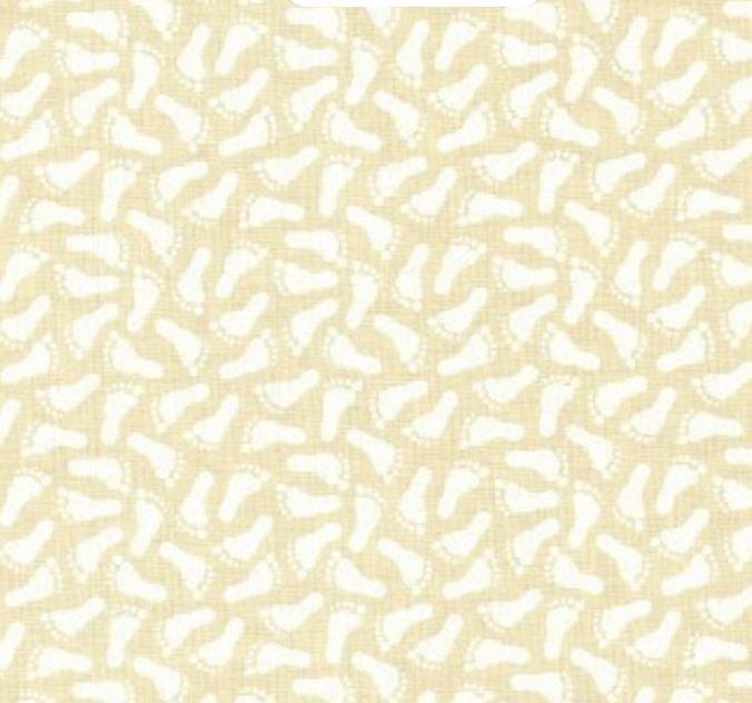 9962-12 Moda Muslin Mates Footprints