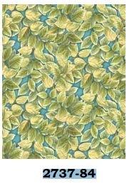 02737-84 Benartex Floribunda by Dove Hill Leaf Turquoise  *15% Savings*   (One Yard Minimum Cut)