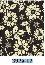 02925-12 Benartex Poinsettia and Holly Black/White   *25% Savings*  (One Yard Minimum Cut)