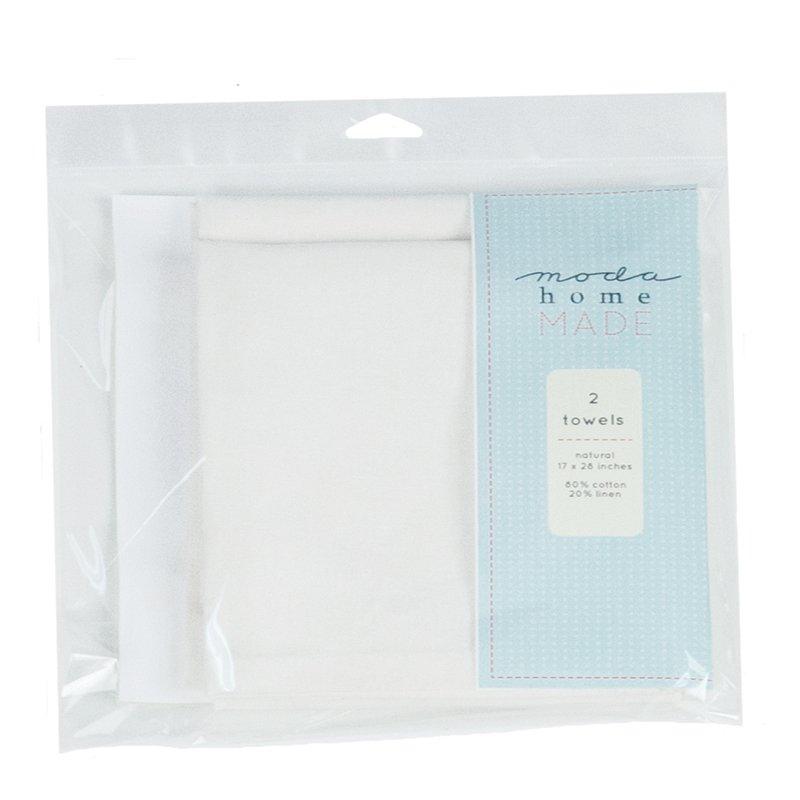 Blank Towel set of 2 Natural