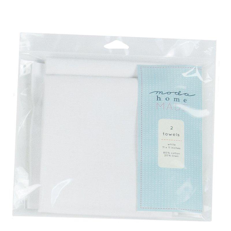 Blank Towel set of 2 White
