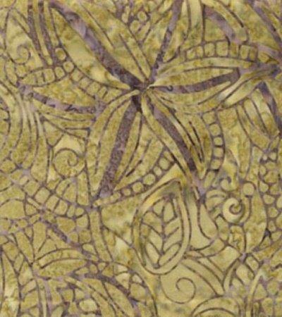 03686-40 Benartex  Treasure Island Balis Batiks Bouquet Sage  *50% Savings*  (ONE YARD MINIMUM CUT)