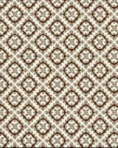 03066-79 Benartex  Foulard Small Scale Diamond Design Brown   *25% Savings*  (One Yard Minimum Cut)