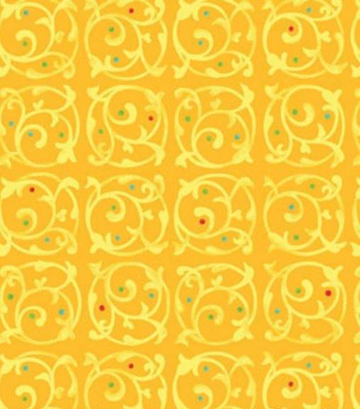00864-30 Benartex This n That Chervil Gold