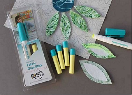 QS-GSY Quilters Select Fabric Glue Stick by Alex Anderson with Bonus Refill