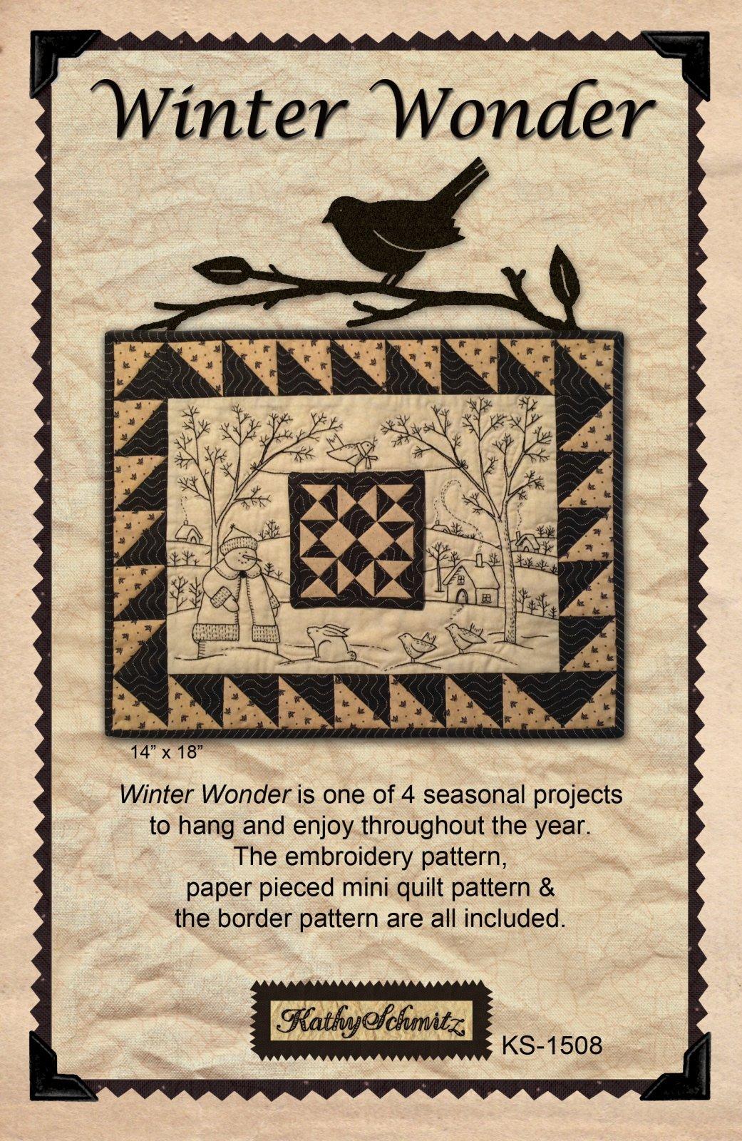 KS-1508 Winter Wonder Wall Hanging Pattern by Kathy Schmitz for Moda