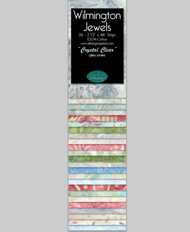 Q810-15-801 Jewels Batavian Batiks by Wilmington Prints 2.5 Strips Crystal Clear